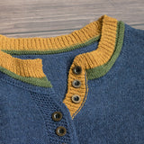 Vintage Casual Striped Patchwork Sweater