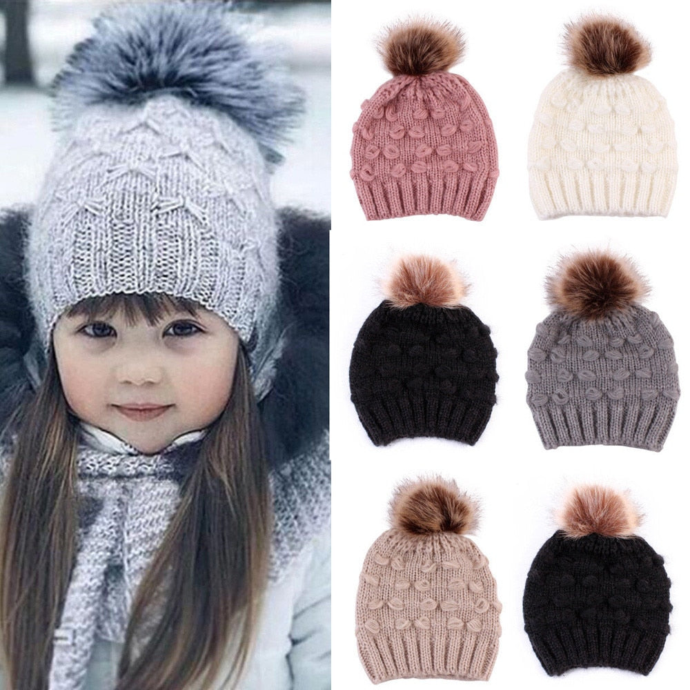 Cute Toddler Kids Crochet Knit Beanie Cap-Sunshine's Boutique & Gifts