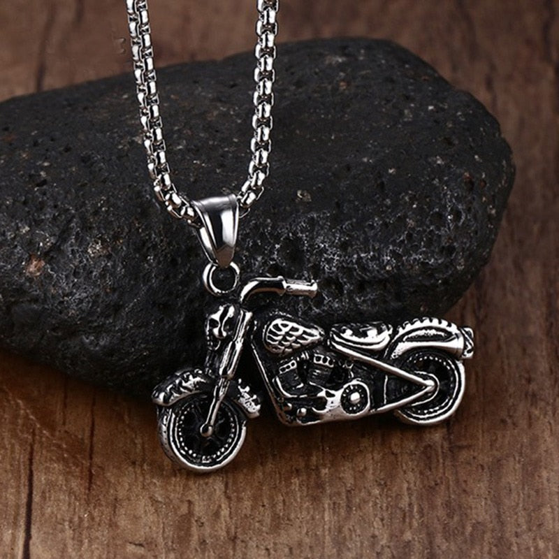 Men Vintage Gothic Ghost Rider Stainless Steel Necklace-Sunshine's Boutique & Gifts