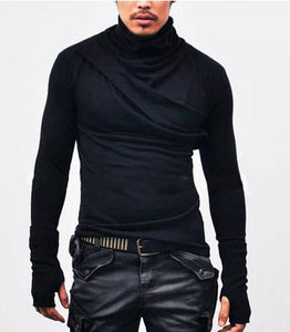 Long sleeve solid streetwear turtleneck shirt-Sunshine's Boutique & Gifts