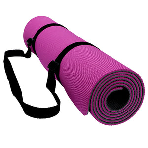 Pro Yoga Mat High Density Non Slip 100% TPE with Carrying Strap 72 x 24 1/4 (6mm) Thickness-Sunshine's Boutique & Gifts