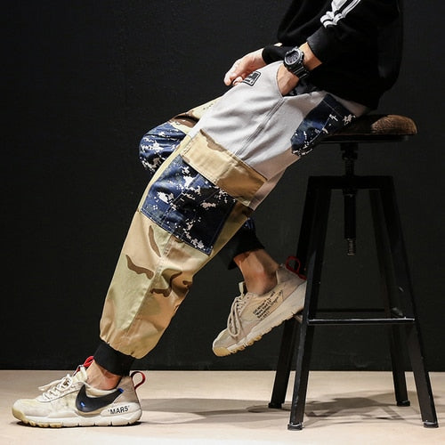 Men High Street Hiphop Camouflage Cargo Pants-Sunshine's Boutique & Gifts