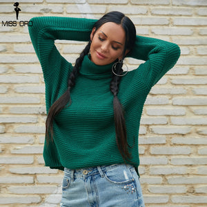 Fashion High Neck Long Sleeve Knitted Sweater-Sunshine's Boutique & Gifts