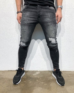 New Side Stripes Denim Ripped Jeans