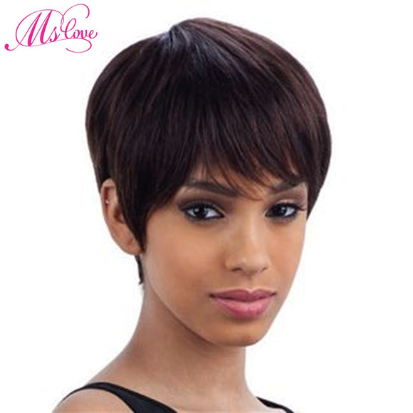 Human Hair Wig Short Straight Non Lace Brazilian-Sunshine's Boutique & Gifts