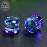Multi Color Glass Ear Tunnels Unisex
