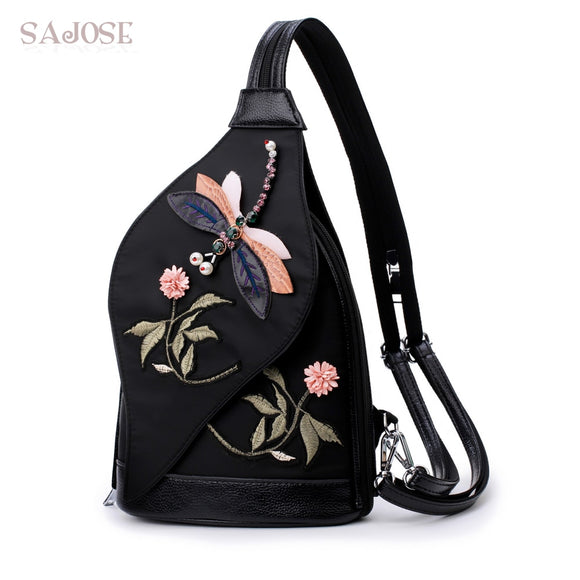 Multi-functional Oxford Embroidery Dragonfly Backpack-Sunshine's Boutique & Gifts