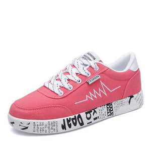 Women Sneakers with Graffiti Flat-Sunshine's Boutique & Gifts