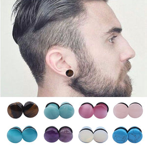 New 4mm-16mmNature Stone Ear Plug-Sunshine's Boutique & Gifts