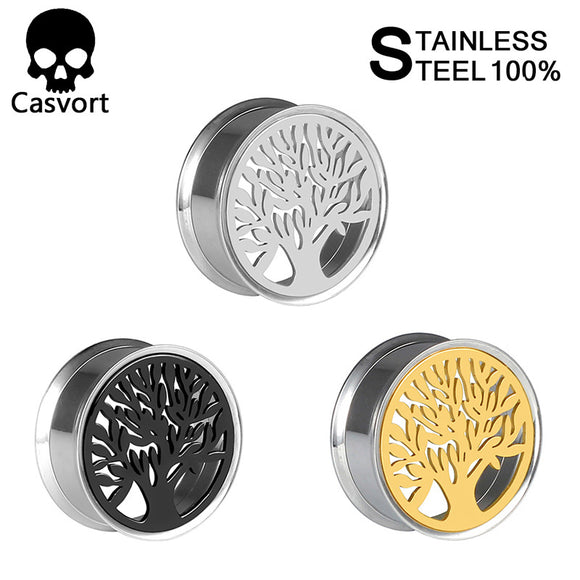 New Arrival Tree of Life 316 Stainless Steel Ear Plug-Sunshine's Boutique & Gifts