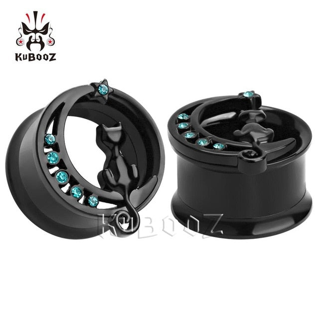 New arrival black stainless steel ear gauges-Sunshine's Boutique & Gifts