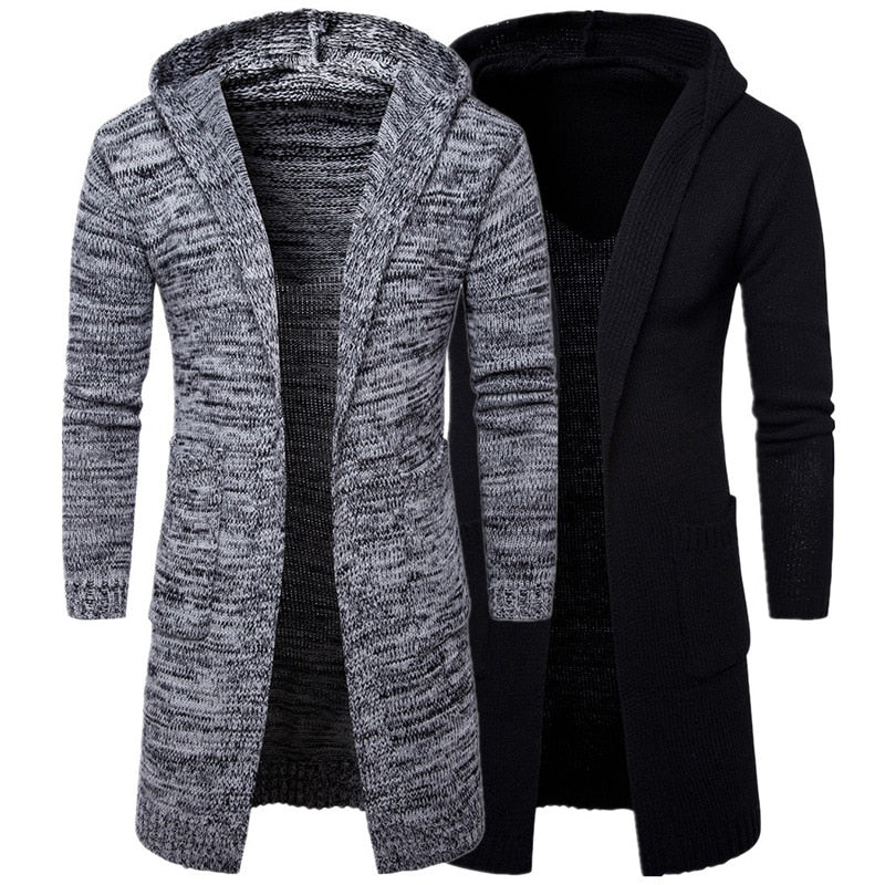 Mens Gray Black Hooded Cardigan-Sunshine's Boutique & Gifts
