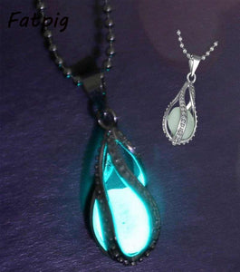 Teardrop Necklace - Glow in the Dark Pendant-Sunshine's Boutique & Gifts