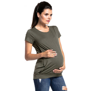 Maternity Breastfeeding Short Sleeve T-Shirt-Sunshine's Boutique & Gifts