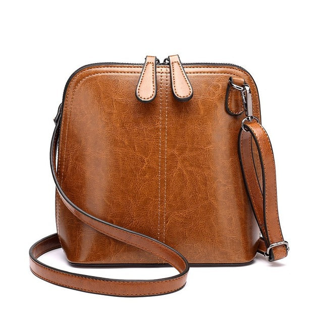 Oli Wax Leather Retro Small Messenger Bag-Sunshine's Boutique & Gifts