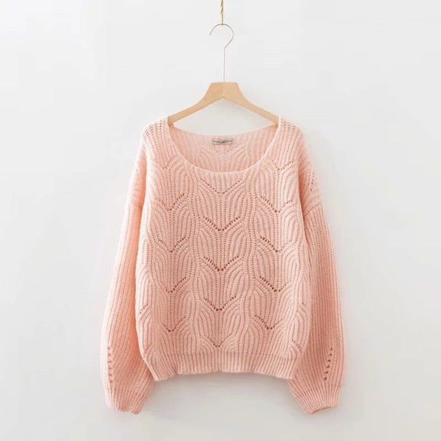 Oversize Coarse Knitted Sweater-Sunshine's Boutique & Gifts
