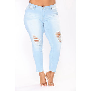 PLUS SIZE Jeans High Waist Skinny 4XL 5XL 6XL 7XL-Sunshine's Boutique & Gifts