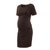 Side Ruched Maternity Dress