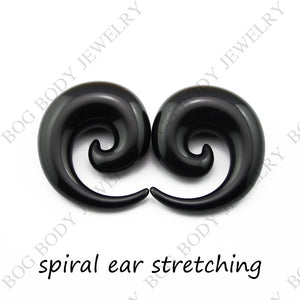 Pair Acrylic Spiral Ear Gauges-Sunshine's Boutique & Gifts