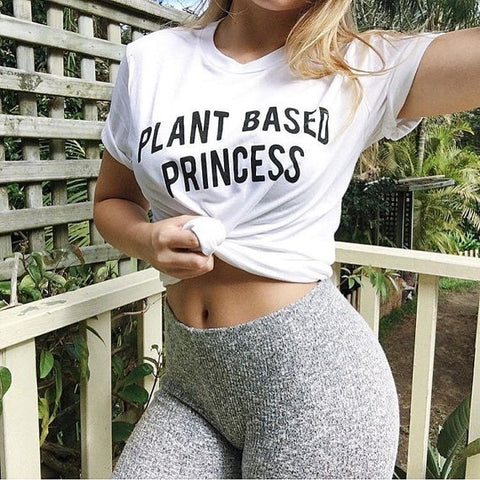 Plant Based Princess Vegan T-Shirt-Sunshine's Boutique & Gifts