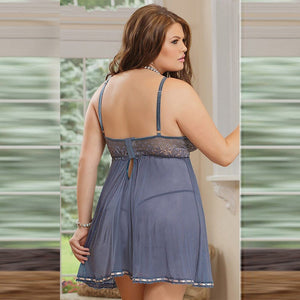 Plus size women open chest babydolls lingerie-Sunshine's Boutique & Gifts
