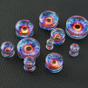 Punk Style Plugs Acrylic Solid With Flower Internal Saddle-Sunshine's Boutique & Gifts