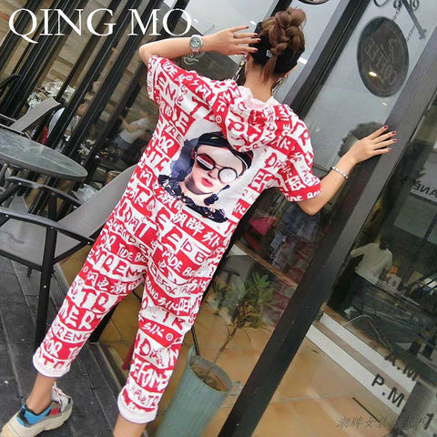 Women Black /Red Letter Printing Jumpsuits-Sunshine's Boutique & Gifts