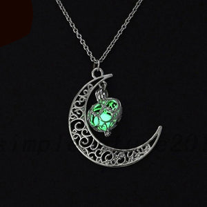Silver plated glow in the dark charm necklace-Trending products - September 2018-Sunshine's Boutique & Gifts
