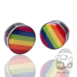 Rainbow Design Stainless Steel Ear Plug-Sunshine's Boutique & Gifts