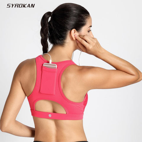 Women's High Impact Sport Bra With Back Pocket-Sunshine's Boutique & Gifts