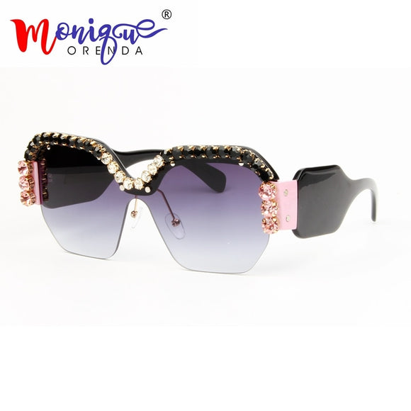 Sexy Rimless Over-sized Sunglasses-Sunshine's Boutique & Gifts