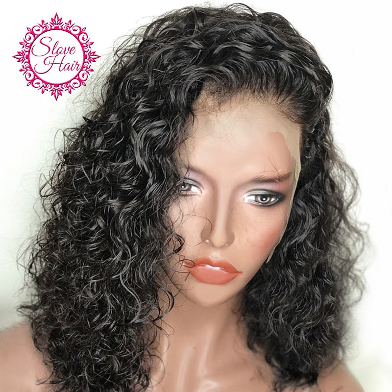 Short Curly Bob Lace Front Human Hair Wigs-Sunshine's Boutique & Gifts