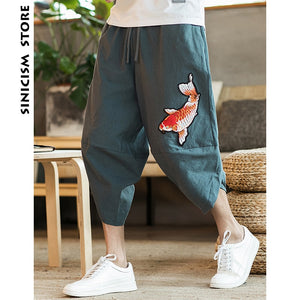 Male Casual Calf-Length Pants-Sunshine's Boutique & Gifts