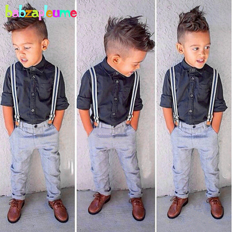Gentleman Baby suits Long Sleeves Shirt+Pants-Sunshine's Boutique & Gifts