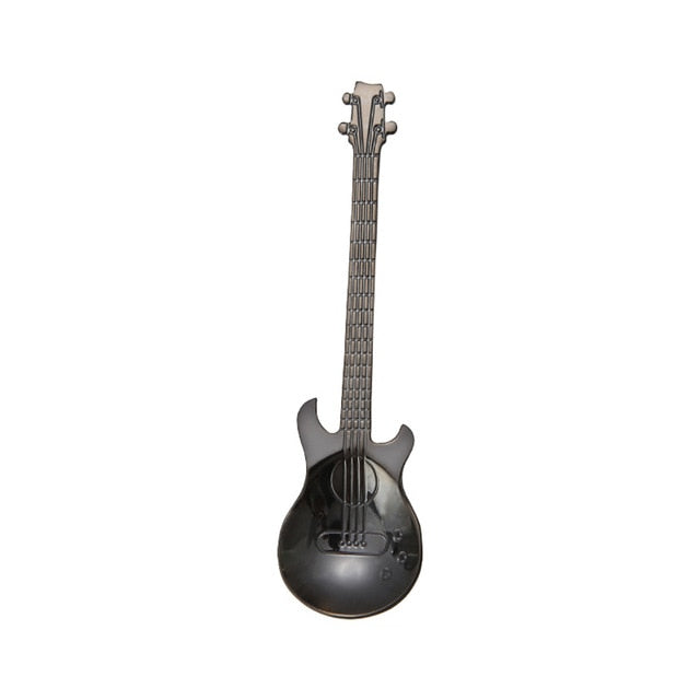 Stainless Steel Cute Guitar Design Handle Coffee Tea Spoon-Sunshine's Boutique & Gifts