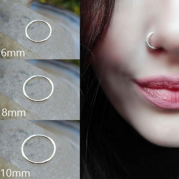 Stainless Steel Seamless Segment Nose Hoops-Sunshine's Boutique & Gifts