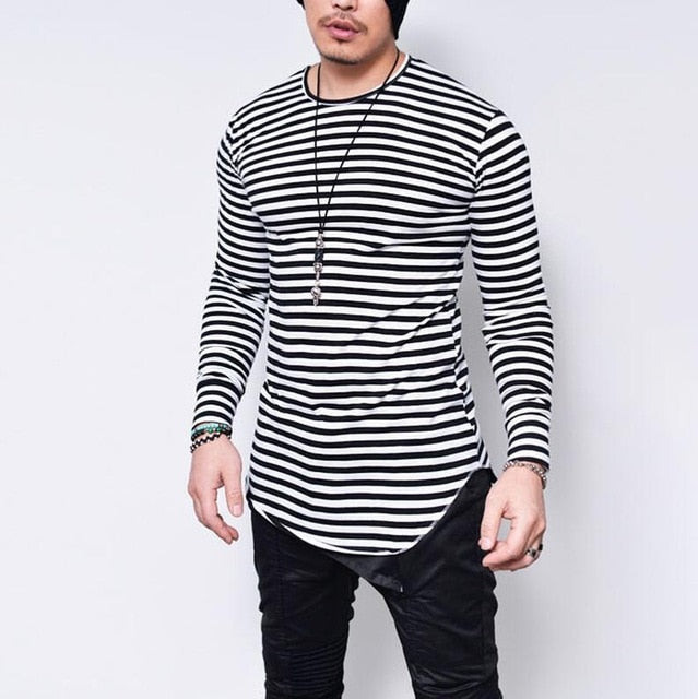 Men Long Sleeve Casual Streetwear t shirt-Sunshine's Boutique & Gifts