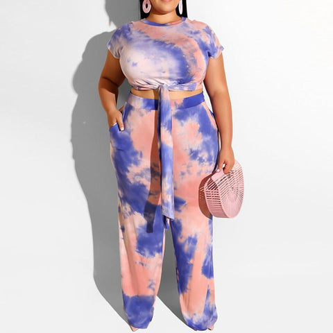 Summer Elegant Plus Size 2 piece Set-Sunshine's Boutique & Gifts