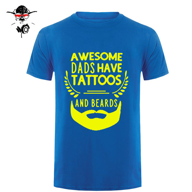 Awesome Dads Have Tattoos And Beards T Shirt-Sunshine's Boutique & Gifts