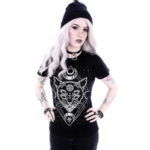 Summer Goth 3D Animal Print T Shirt-Sunshine's Boutique & Gifts