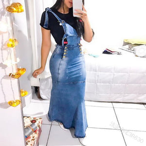 Women Overalls Fashion Jean Dresses