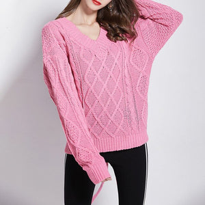 Knitted Bowknot Sweater
