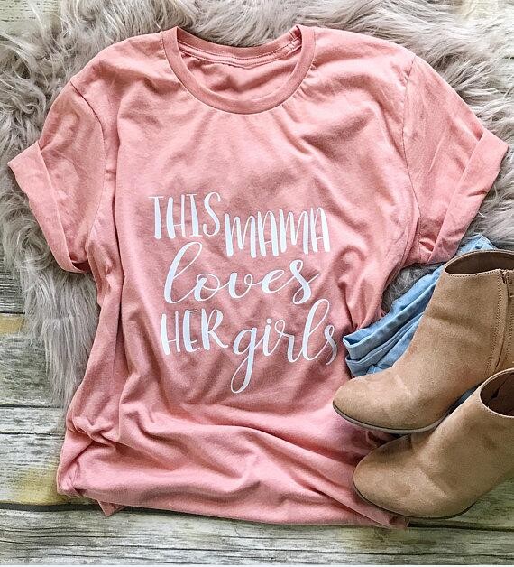 This Mama Loves Her Girls T-Shirt-Sunshine's Boutique & Gifts