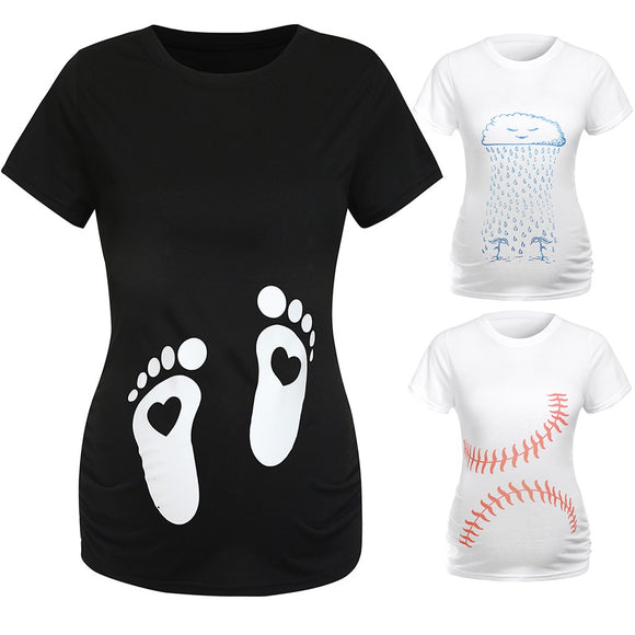 Maternity Clothes Casual T-Shirt-Sunshine's Boutique & Gifts