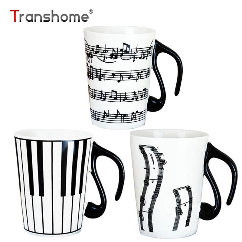 Piano Musical Note Porcelain Cup-Sunshine's Boutique & Gifts