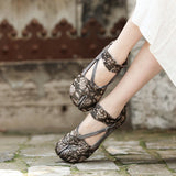 Embellished Flower Genuine Leather Shoe-Sunshine's Boutique & Gifts
