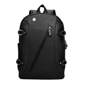 Leather Casual USB Interface Backpack