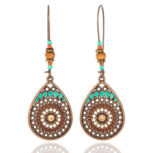 Vintage Boho India Ethnic Dangle Drop Earrings-Sunshine's Boutique & Gifts
