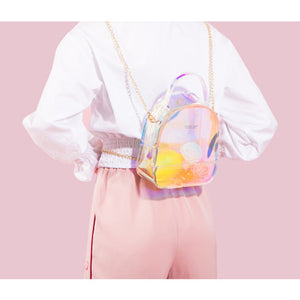 Fashion Colorful PVC Hologram Backpack-Sunshine's Boutique & Gifts