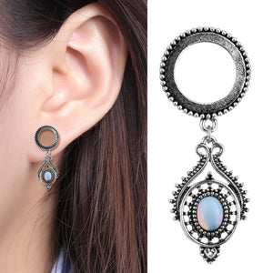 Waterdrop Opal Dangle Ear Plugs Stainless Steel-Sunshine's Boutique & Gifts